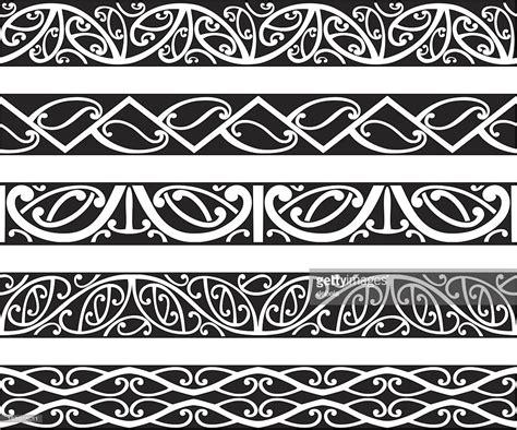 koru patterns black and white maori borders vector art getty images