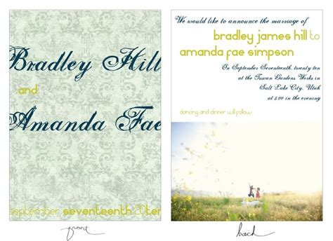 Wedding Announcement Design by 7 Best Wedding Announcements Images On Wedding