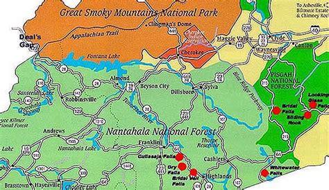 carolina waterfalls map maggie valley waterfalls map trips