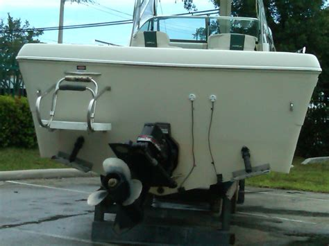 grunt boat transom tie down instructions best position for transom mount transducer the hull