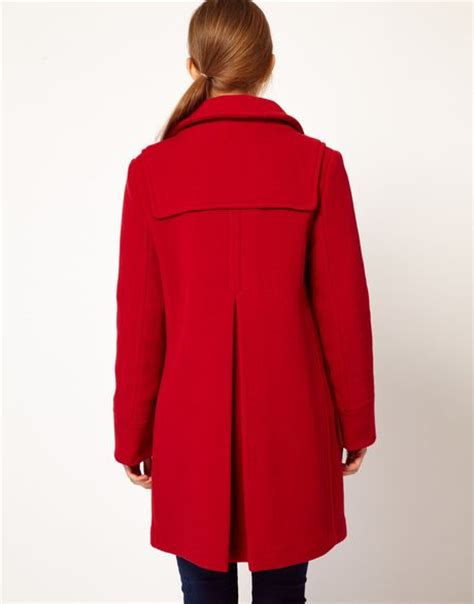 gloverall swing duffle coat gloverall swing duffle coat in check back wool with