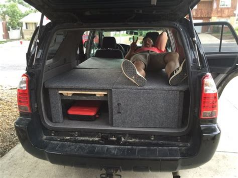 Three Piece Of Sliding toyota 4runner camper sleeper conversion with table