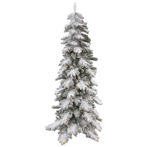 7 foot artificial pe pvc vail pine flocked christmas tree
