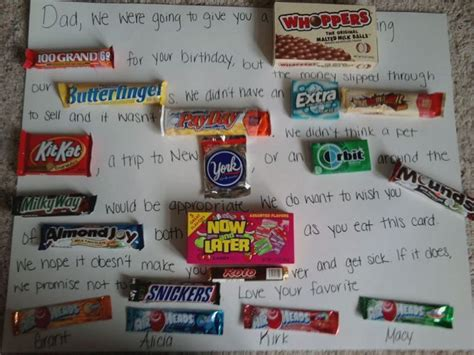 Candy Gift Card - candy card i made for my dad s birthday my pinterest creations pinterest candy