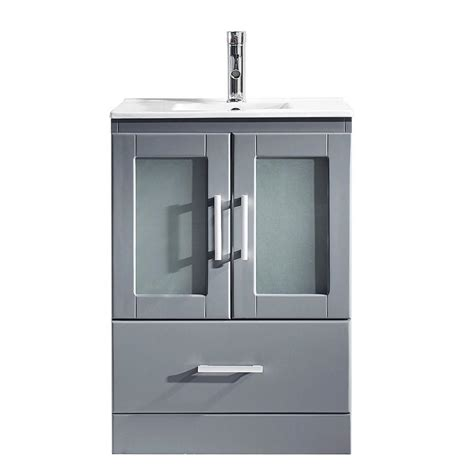 24 X 18 Vanity by Virtu Usa Zola 24 In W X 18 In D Single Vanity In Gray