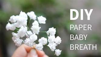 diy paper baby breath flower from tissue paper