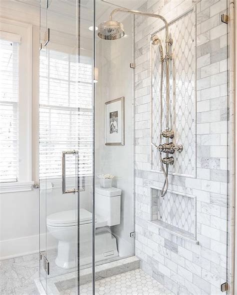 carrara marble subway tile bathroom start your day with something beautiful we re feeling