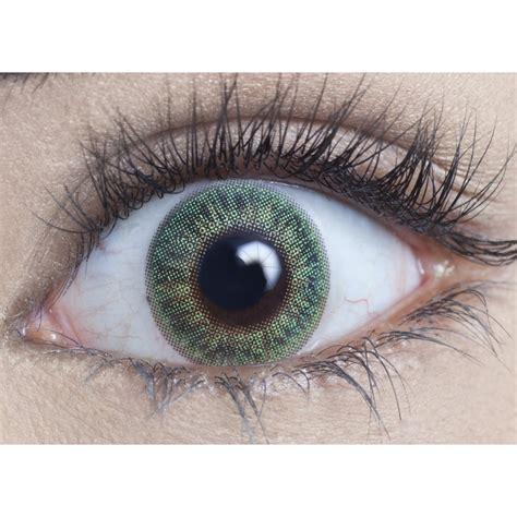green color contacts mesmereyez coloured contact lenses blendz emerald green