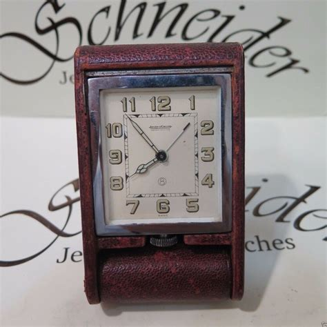 vintage genuine jaeger lecoultre travel alarm desk clock