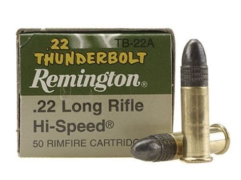 remington thunderbolt 22 ammo remington thunderbolt ammo 22 long rifle 40 grain lead