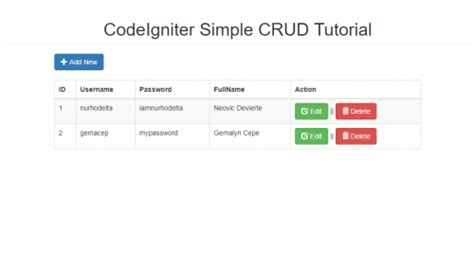 simple codeigniter blog codeigniter simple crud tutorial free source code