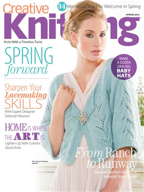 knitting magazine in the spotlight designer galina carroll creative