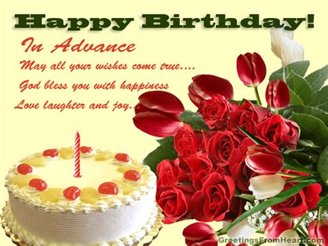 Happy Birthday Wishes In Advance Sms Happy Birthday In Advance Gif Images