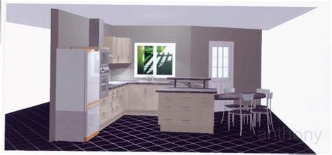 cuisine am駻icaine avec ilot central ilot cuisine table design et conception cuisine u2013 80