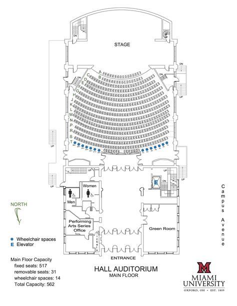 university auditorium plan visit us performing arts series cca miami university