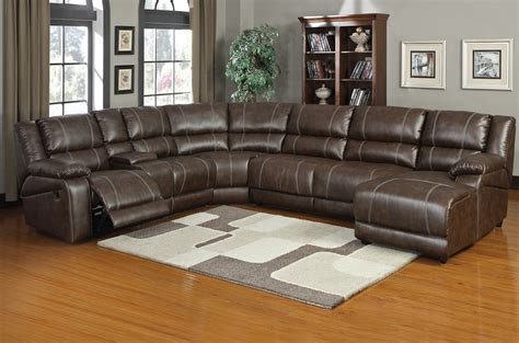 leather sectional sofa with recliners plushemisphere