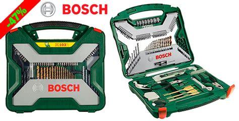 Bor Cas Bosh 161 chollo juego de brocas herramientas 103 piezas bosch x