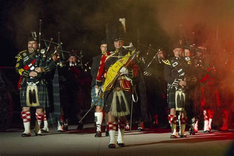 04 massed pipes ad drums with highland dancers 2017 quebec city bands the princely liechtenstein tattoo
