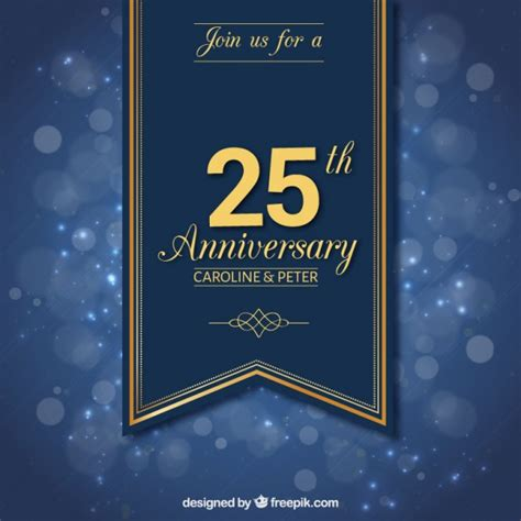 work anniversary card template free twenty fifth anniversary ribbon vector free