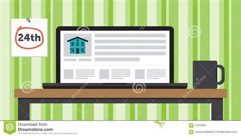 Free Rent To Own Homes Websites by Apartment For Rent Website Shown On A Laptop On A Table