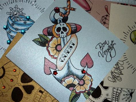 tattoo flash cards tattoo design style luxury handmade card leaving card