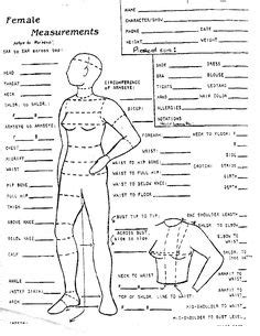 patternmaking for fashion design standard measurement chart free printable body measurement chart women s