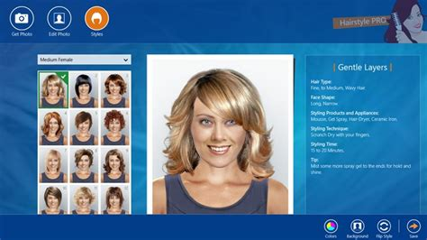 hairstyles and colors app hairstyle pro for windows 8 and 8 1