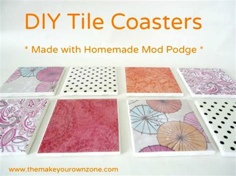 How To Make Coasters Out Of Tiles And Scrapbook Paper - diy tile coasters a great way to use mod podge