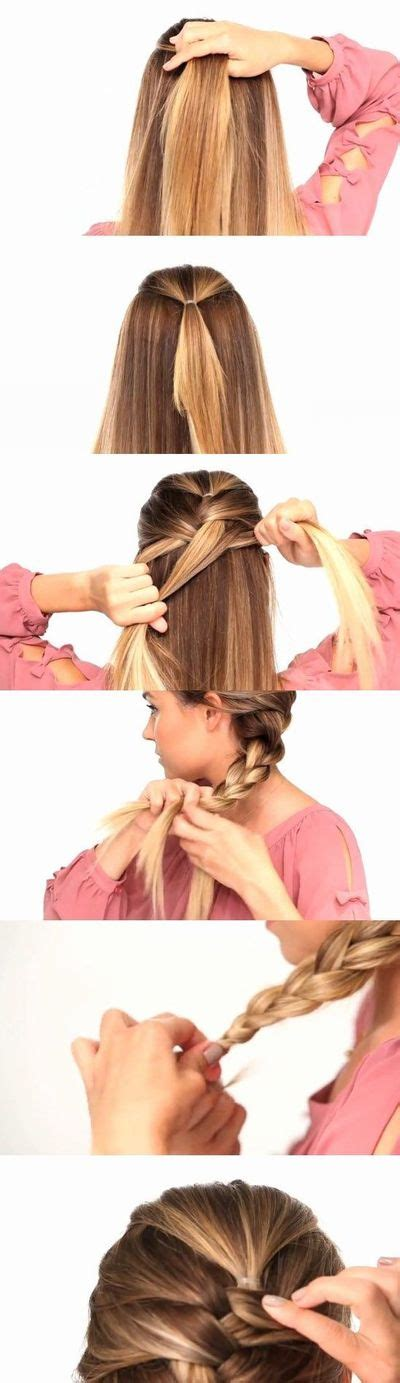 french braid your hair in 7 simple steps with a video easy way to french braid your own hair hair tips juxtapost