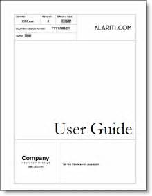 Guide Template by User Guide Ms Word Templates Tutorials Sles