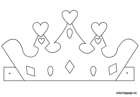 free printable tiara template princess crown template coloring page