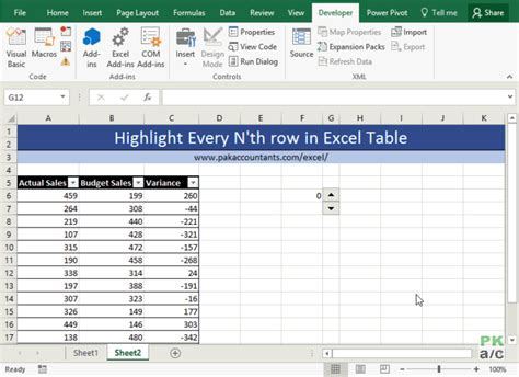 highlight every nth row in excel tables how to