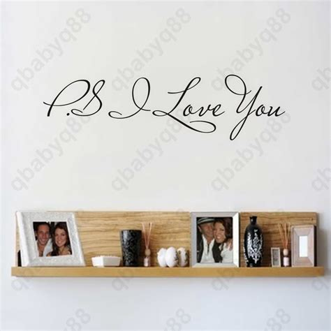 small wall stickers ps i you small wall quotes decal removable stickers decor vinyl home ebay