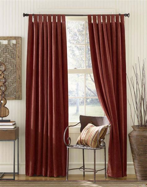 tabbed curtains curtain panel tab top curtain design