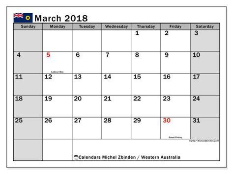 printable calendar 2018 western australia calendar march 2018 western australia