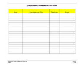 Templates For Lists Update 58068 Phone List Templates 37 Documents