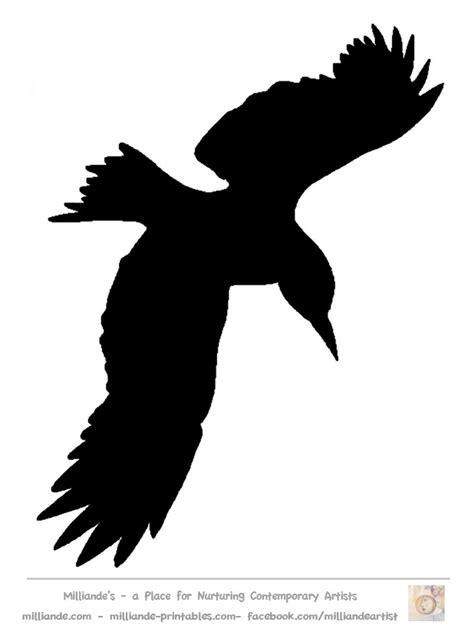 printable stencils of birds bird silhouette stencil template crow at www milliande