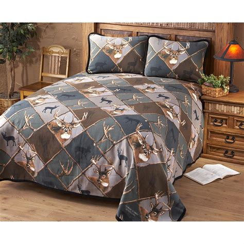 deer bedding set jq outdoors 174 deer bedding set camo 147866 quilts at
