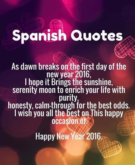 quotes  spanish  english translation happy  year  wishes quotes poems pictures
