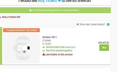 ed sheeran fan presale ed sheeran fans furious pre sale tickets daily mail