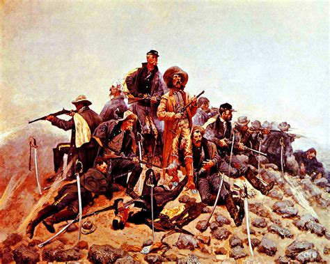 quot the last stand quot custer last stand at the battle of the bighorn by frederic remington