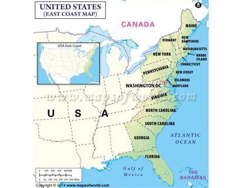 map of us states east coast buy map of east coast usa