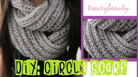 infinity scarf pattern knit youtube diy knit like circle scarf crochet tutorial youtube