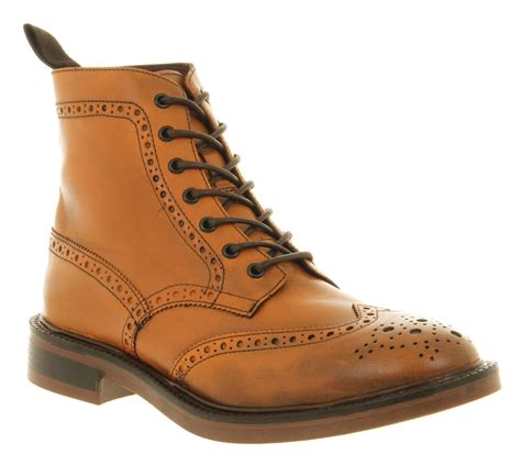 mens poste theodor brogue boot leather boots size 12