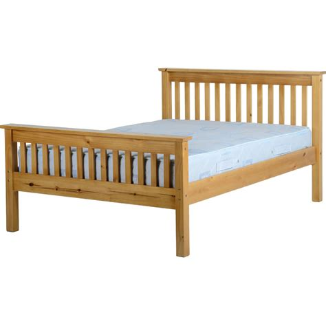 Ville High End Double Bed Frame Antique Pine At Wilko Com High End Bed Frames