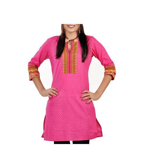 kurti pattern blouse indian hot pink printed pattern cotton kurti blouse