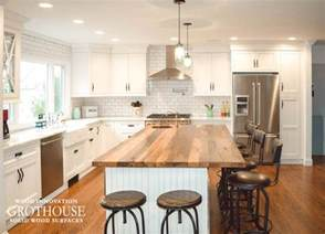 reclaimed chestnut kitchen island counter in sea cliff ny