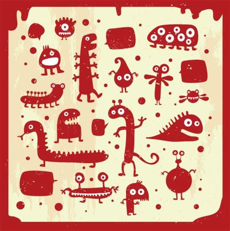 many doodle monsters images 超かわいい モンスター 怪獣 のイラスト素材 eps free style