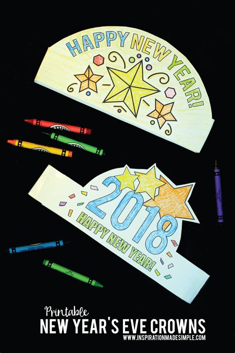 new year 2018 melbourne crown printable new year s crown inspiration made simple