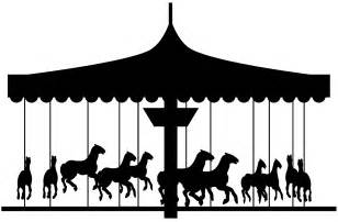Carousel Silhouette Clip carousel silhouette free vector silhouettes